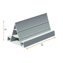 PVC guide for floor concreting