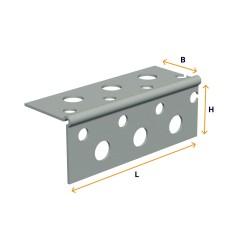 Zinc-plated angle piece