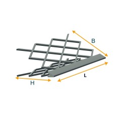 Zinc-plated angle piece (for plastering)
