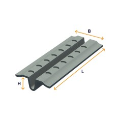 Zinc-plated strip (for plastering)