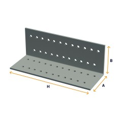 Perforated angle brackets